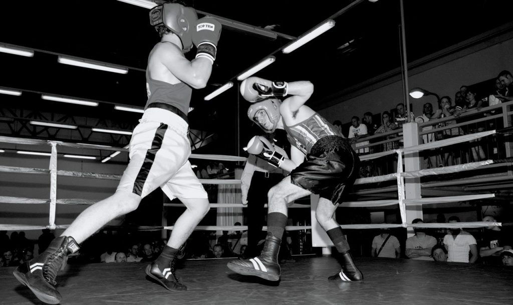 Boxers-during-a-tournament,-light-weight