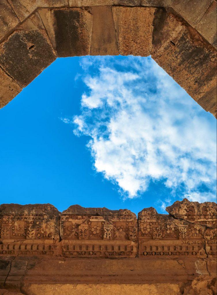 Detail-of-Baalbek-temple,-Lebano